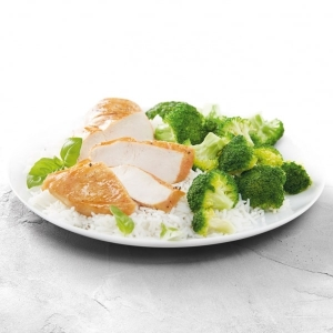 Chicken with Broccoli and Rice