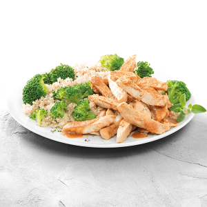 Chicken Teriyaki-Style with Quinoa and Broccoli